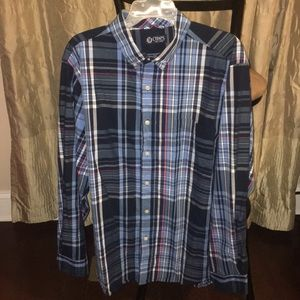Chaps Long Sleeve Button Up